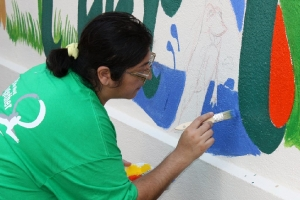 MPS Clean-Up - Painting a Mural