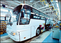 Bus assembly line, Chunjoo plant, Korea