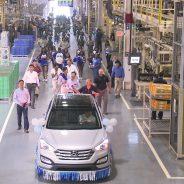 Homecoming Parade marks the return of the Santa Fe to Hyundai's Montgomery, Ala. assembly plant