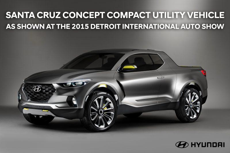 Santa Cruz Concept Compact Utility Vehicle as shown at the 2015 Detroit International Auto Show