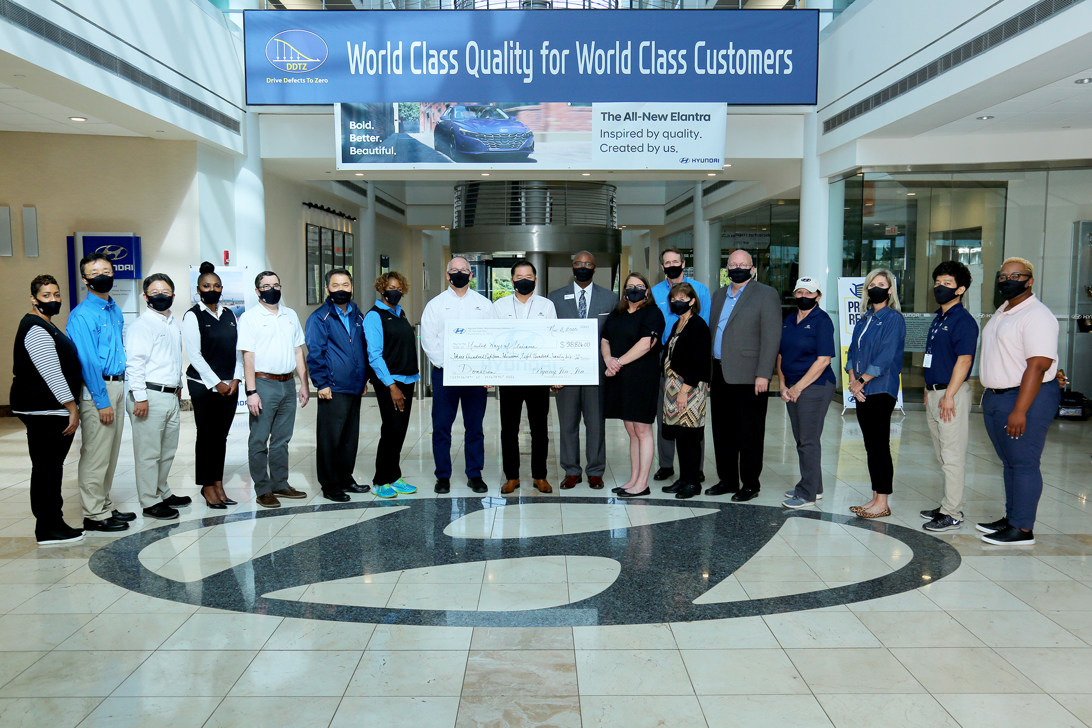 HMMA AND ITS TEAM MEMBERS PLEDGE MORE THAN $318,000 TO UNITED WAYS OF ALABAMA